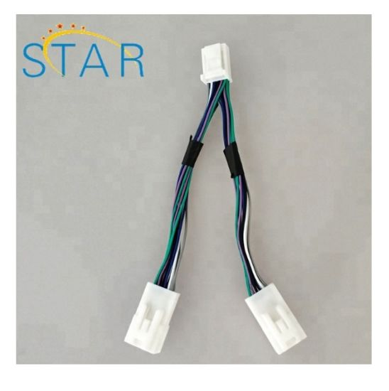 12 pin male to female wire harness car radio y cable for toyota pictures &  photos