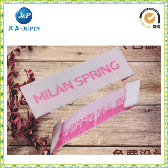Custom Garment Label End Folding Damask/Satin Woven Label for Clothing (JP-CL100)