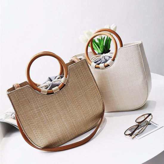 Cathylin Customized Straw Bag Handmade Beach Bags Women Handbags