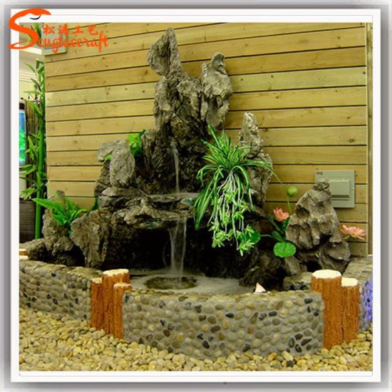 Factory Wholesale Artificial Plastic Water Fountain For Indoor