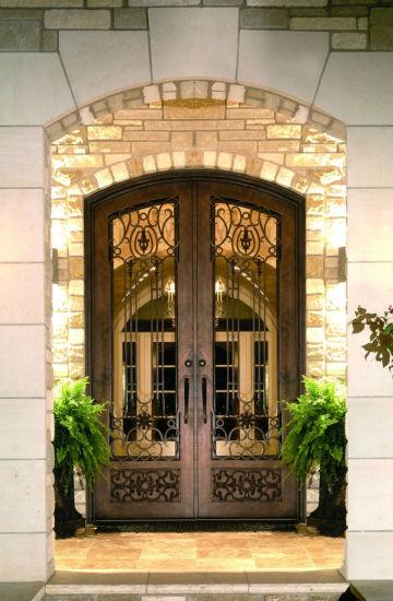 Hot Wrought Iron Exterior Door