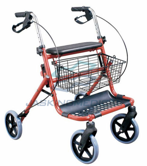 Four Wheels Aluminum Walker with Brake pictures & photos