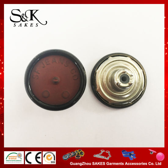 Metal Ring Painted Color Brass Shank Button for Jeans