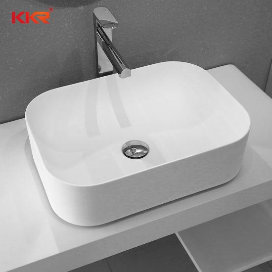. China Simple Modern Italian Solid Surface Bathroom Wash Basin