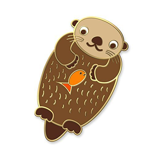 Wholesale Custom Metal Soft Enamel Cute Otter Shape Lapel Pins pictures & photos