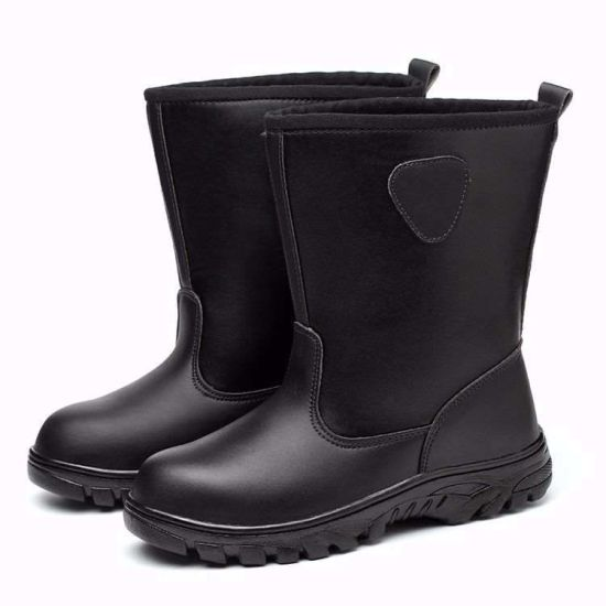 Oil Workers Boots Breathable Labor Protection Shoes Men Super Light Deodorant Winter High Top Light Soft Bottom Beef Wear-Resisting and Velvet Anti New