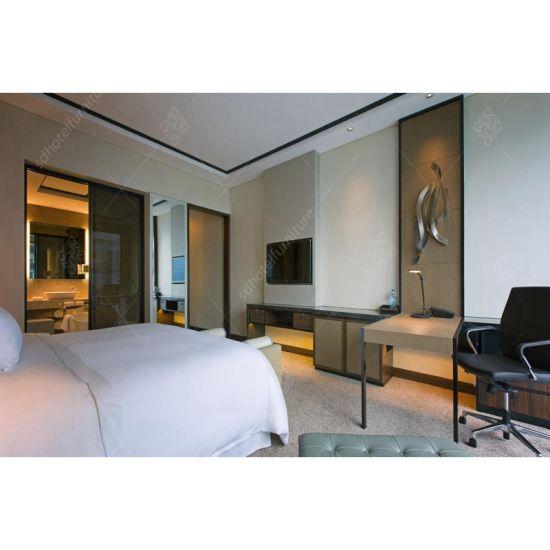 Custom New Model Wooden Hotel Furniture Bedroom Set Indonesia (KL 104)