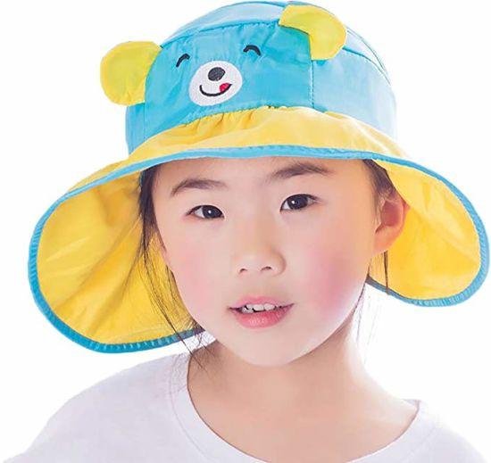 Cartoon Bear Bunny Sun Protection Wide Brim Visor Sun Hat for Kids pictures    photos 0d69f346731e