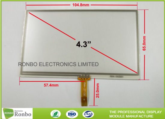 china 4 wire touch screen control panel, 3 5 inch industrial