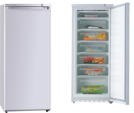 182L Small Single Solid Door Upright Vertical Freezer with Drawers