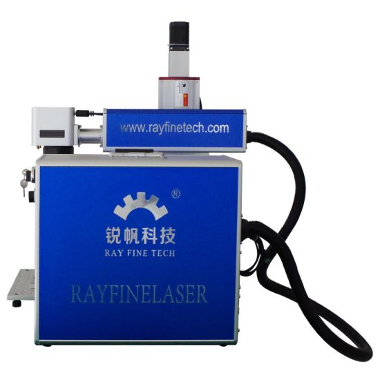 Rayfine Raycus Max 20W 30W 50W Mini Metal Fiber CNC Laser Marking Engraving Cutting Machine with Ce and FDA Cetificate