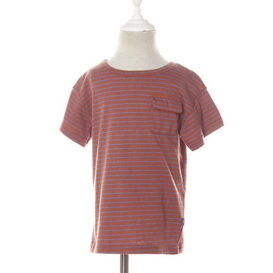 Short Sleeves Summer Striped Cotton Pocket Wholesale T-Shirt for Little Toddler Boys