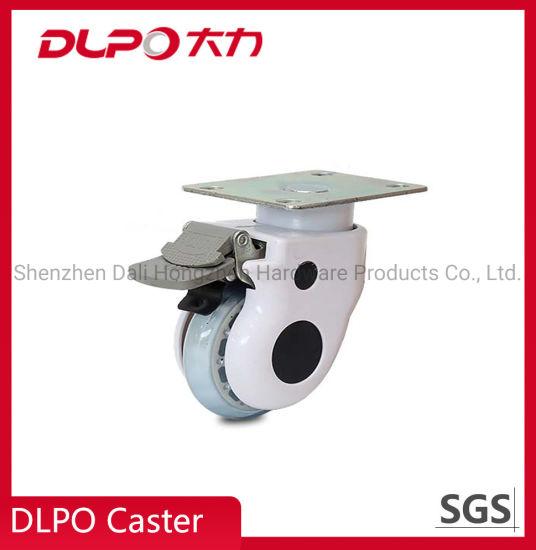 Medium Duty Transparent Wheel Top Plate Type Rotating Medical Caster
