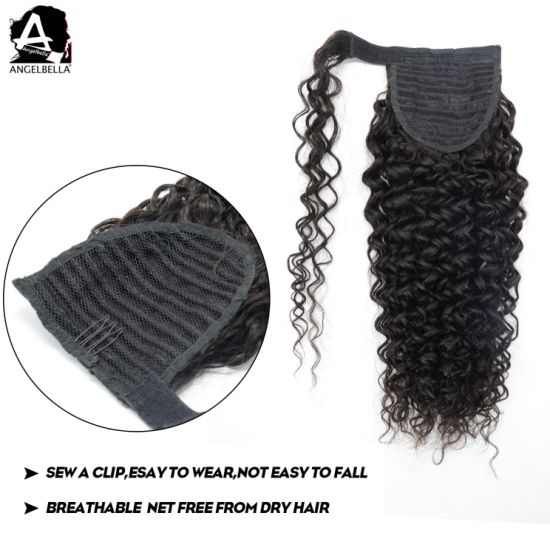 Angelbella Fashion Hair Ponytails Jerry Curl Remy Hair Extensions pictures & photos