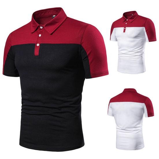Men's Slim Fit Lapel Neck Assorted Colors Cotton Polo Shirt