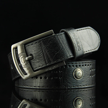 Men′s Classic PU Bonded Leather Modern Jean Belt with Sleek Metal Buckle pictures & photos
