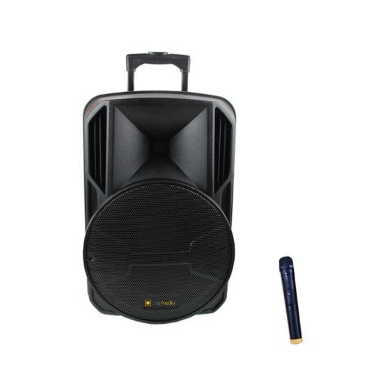 12 Inch Portable Trolley Speaker with Wheels OEM Guangzhou Bluetooth Speaker