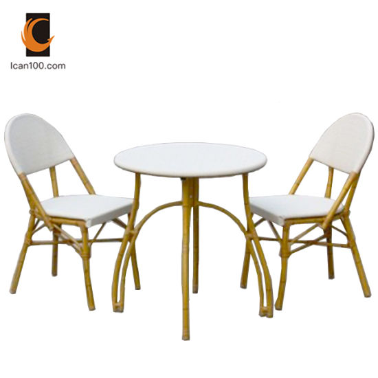 Water Proof Hotel Outdoor Patio Modern Textilene Table Chair Restaurant Dining Furniture Set