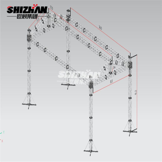 Shizhan Mini Truss Stand Movable Banner Aluminium Lighting Truss