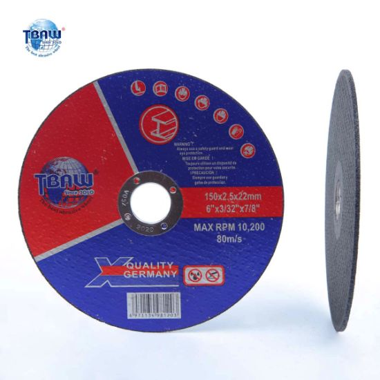 Factory T42 OEM 6 Inch 2.5mm Thickness Abrasive Cutting Wheel for Metal Grinder 150*2.5*22mm