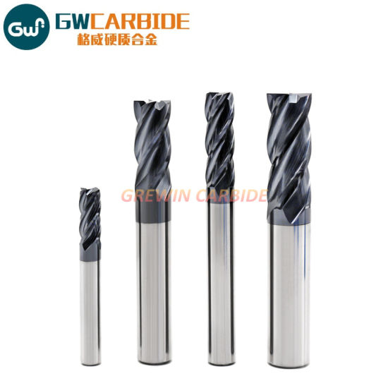"""3 Pcs 7//16/"""" 4 Flute Regular Length Ball End Carbide End Mill TiAlN Coated"""