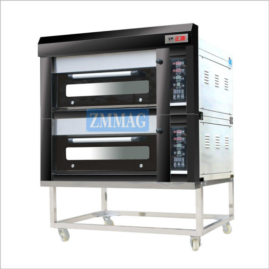 Automatic Small Most Popular Bread Baking Gas Deck Oven Bakery Machine (ZMC-204M)