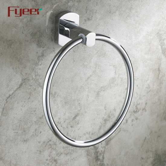 Fyeer Solid Brass Chrome Plated Towel Ring pictures & photos