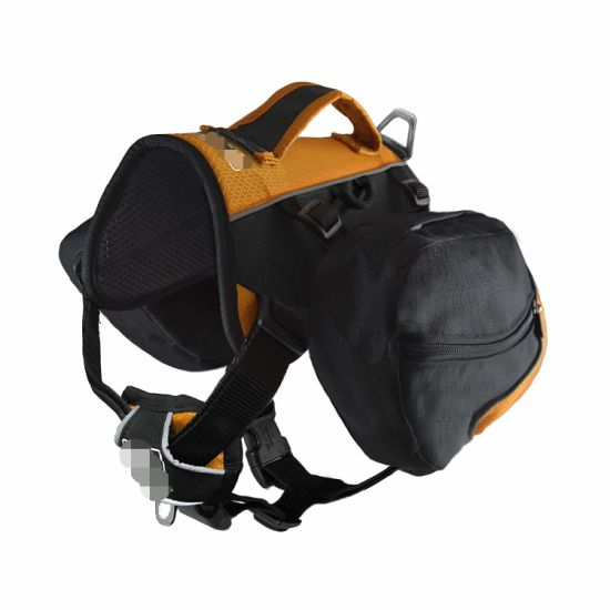 50-110 Lb Big Dog Backpack, Large, Black/Orange Dog Accessory Harness Backpack pictures & photos
