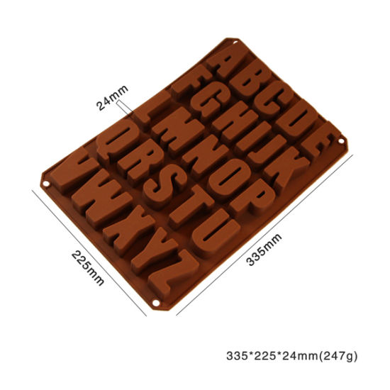 Nostick Silicone DIY Letter Moulds for Chocolate/Soap/Ice