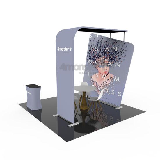 Advertising Trade Show Backdrop Design 3X3 Exhibition Solution Booth
