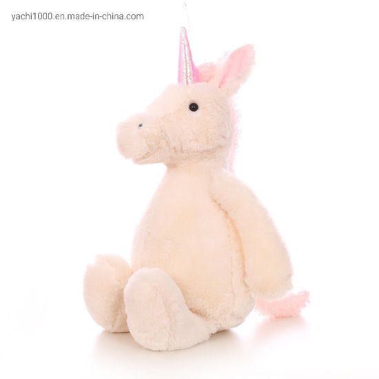 Soft Animal Stuffed White Plush Horse pictures & photos