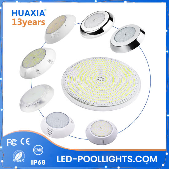 IP68 RGB/Warm White 12V Resin Filled Lighting Underwater LED Swimming Pool Light with 2 Years Warranty