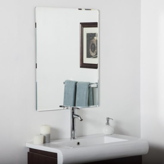 China 5mm Hotel Bathroom Decorative, How To Hang A Large Beveled Mirror