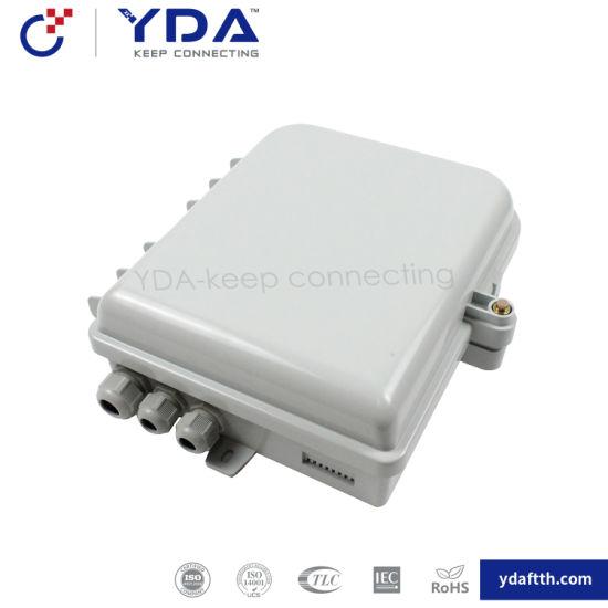 FTTH IP65 Fiber Optic Plastic Box 8 Port Distribution Terminal Box
