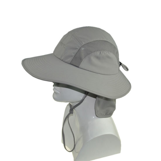 95d3834c China Polyester Wide Brim Baseball Cap Sun Protection Hats with Ear ...