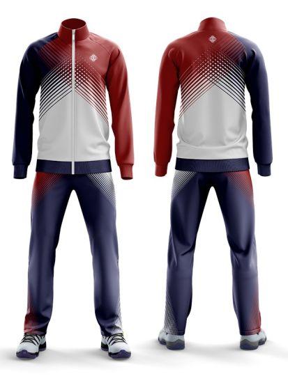 China Professional Custom Club School League Team Tracksuits Jacket Pant Sublimation Tracksuit
