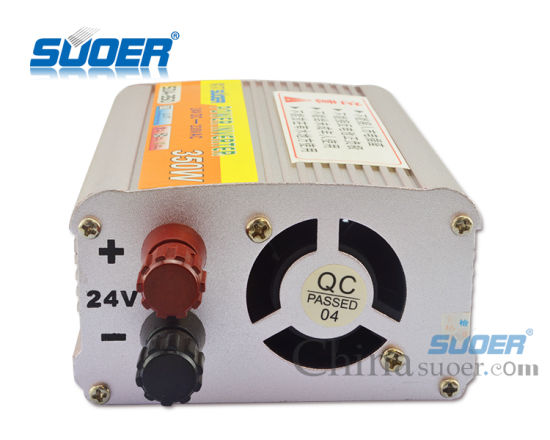 Suoer Low Price DC Inverter 24V 350W Car Power Inverter (SDA-350B) pictures & photos
