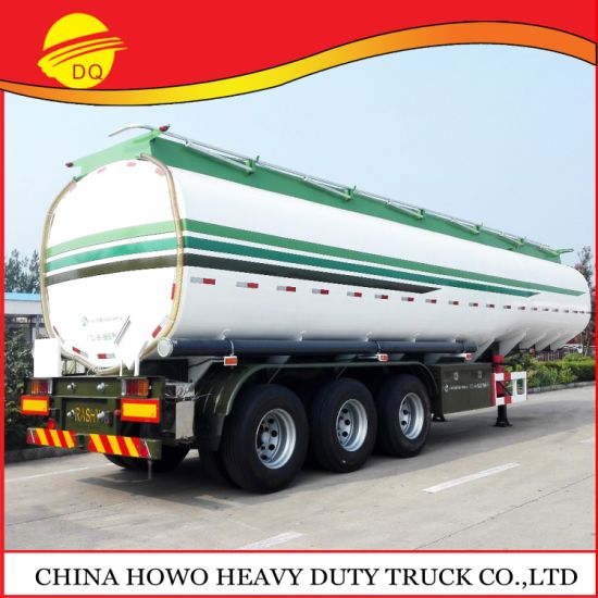 45000 Liters Oil Tanker Capacity Used Crude Oil Trailers Fuel Tank Semi Trailer Transport for Sale