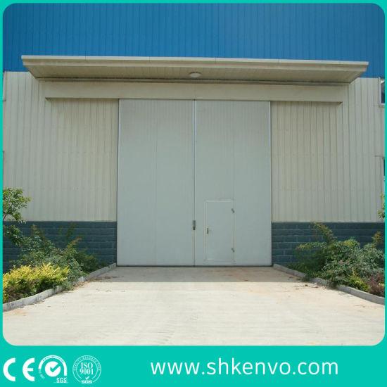 Industrial Electric PU Sandwich Panel Sliding Door for Workshop