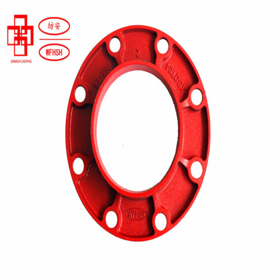 Ductile Iron Grooved Pipe Fittings Adaptor Flange for Fire Protection System