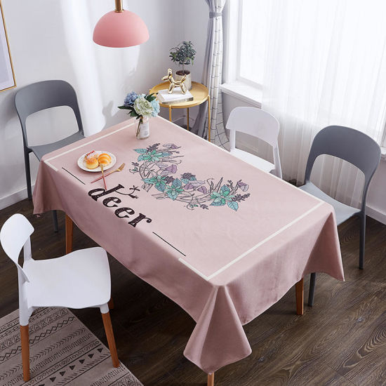 Factory Polyester Table Cloth Table Linen Table Cover pictures & photos