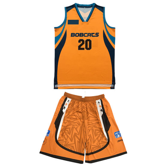 100% Polyester Custom Team Sublimation Basketball Jersey Wear Wholesale Blank Sport Uniform