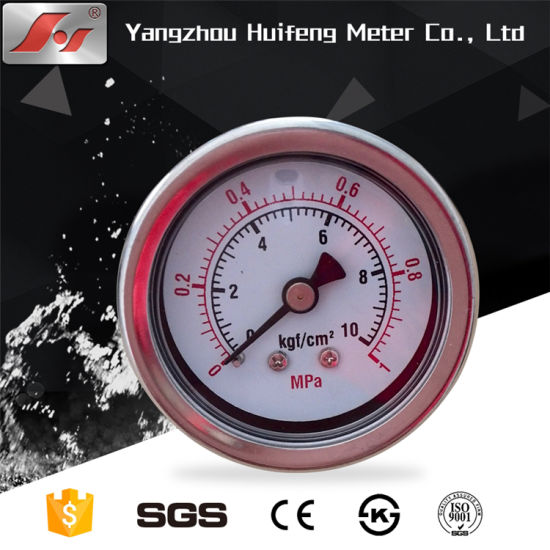 "1.5"" Y40 40mm Stainless Steel Oil Filled Pressure Gauge pictures & photos"