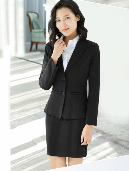2019 Sexy Slim Fit Classic Woman Office Suit Coat Pant Suits Ladies Elegant Office Uniform