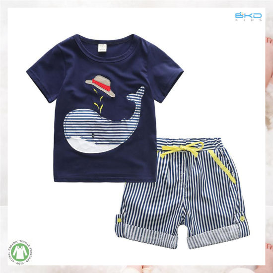 Higt Quality Kids Clothes Printing Style Kids Boy Clothes Set