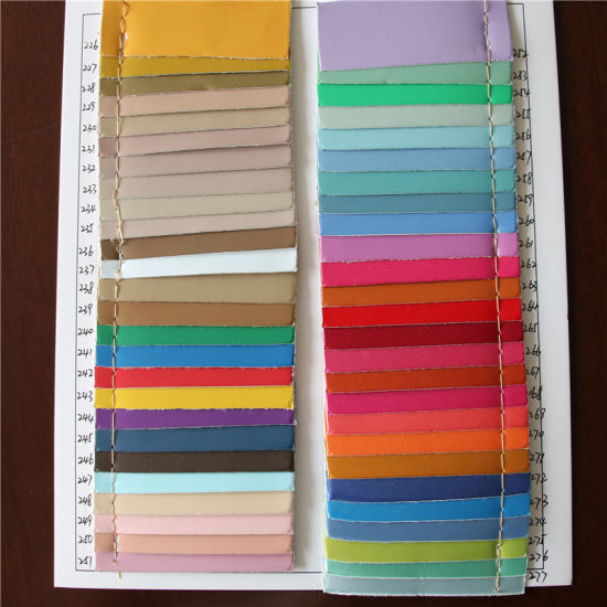 0.75mm Shiny Mirror Sureface PU Leather for Handbags (8602) pictures & photos