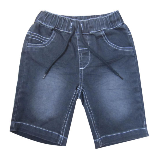 Kid Garment Boy Knitted Denim Bermuda Shorts pictures & photos