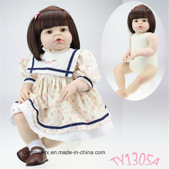 Cotton Body 28 Inch Reborn Toddler Dolls for Toy
