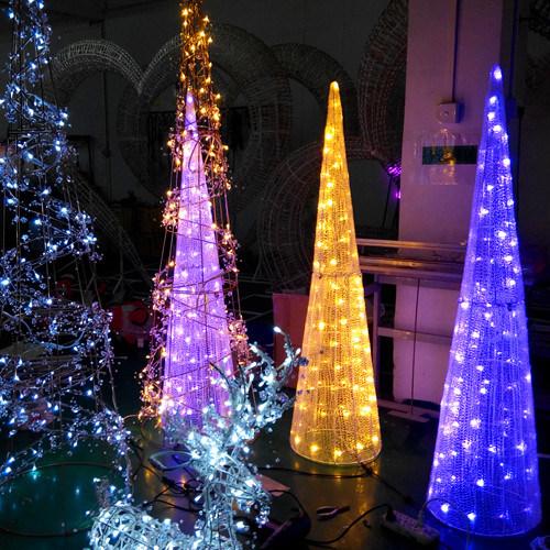 5 Star Led Cone Motif Light Outdoor Christmas Hotel Decoration Lights