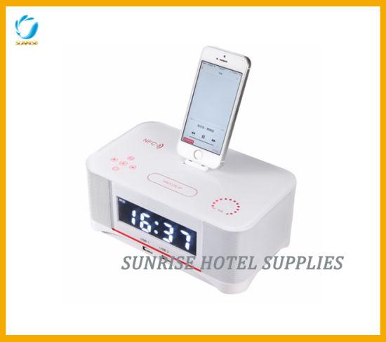 Hotel Bluetooth Alarm Clock Docking Station
